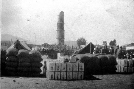 Dharahara after 1934 earthquake old nepal