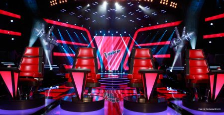 The set of The Voice