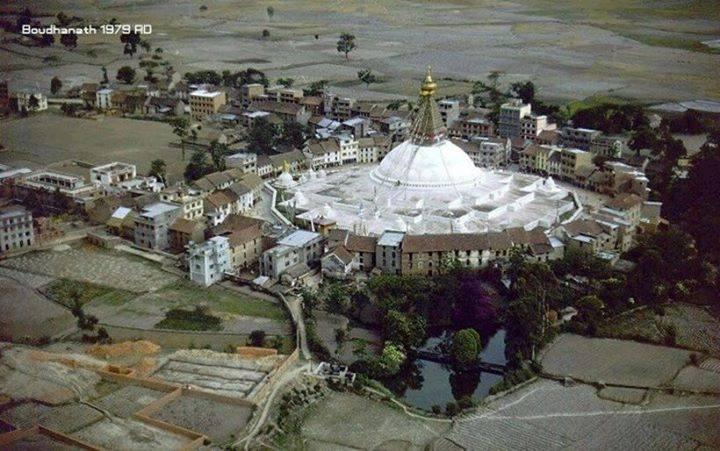 Old Nepal Baudhhanath Stupa