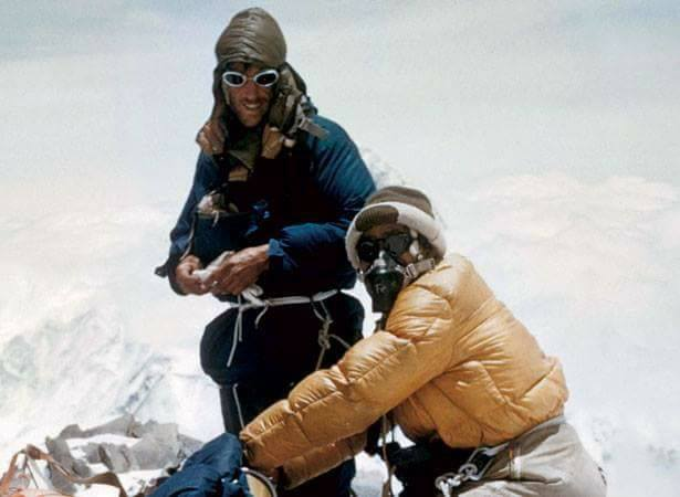 In 1953, Tenzing Norgey Sherpa and Edmund Hillary ascended Mount Everest old nepal