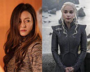 Namrata Shrestha and Daenerys Targaryen
